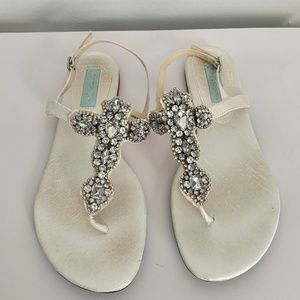 Blue by Betsey Johnson White Sandals